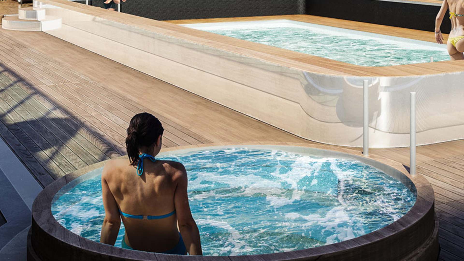 Retractable spa tub